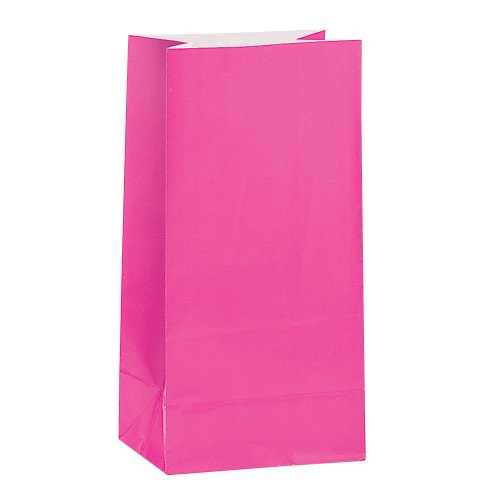 PAPER LOOT BAGS - MAGENTA - PACK OF 12