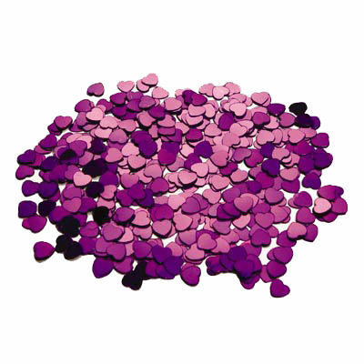 TABLE SCATTERS - MAGENTA HEARTS