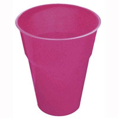 DISPOSABLE CUPS - MAGENTA PACK 25