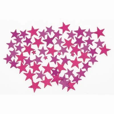 TABLE SCATTERS - MAGENTA STARS