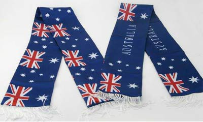 AUSTRALIAN SUPPORTERS SATIN SCARF