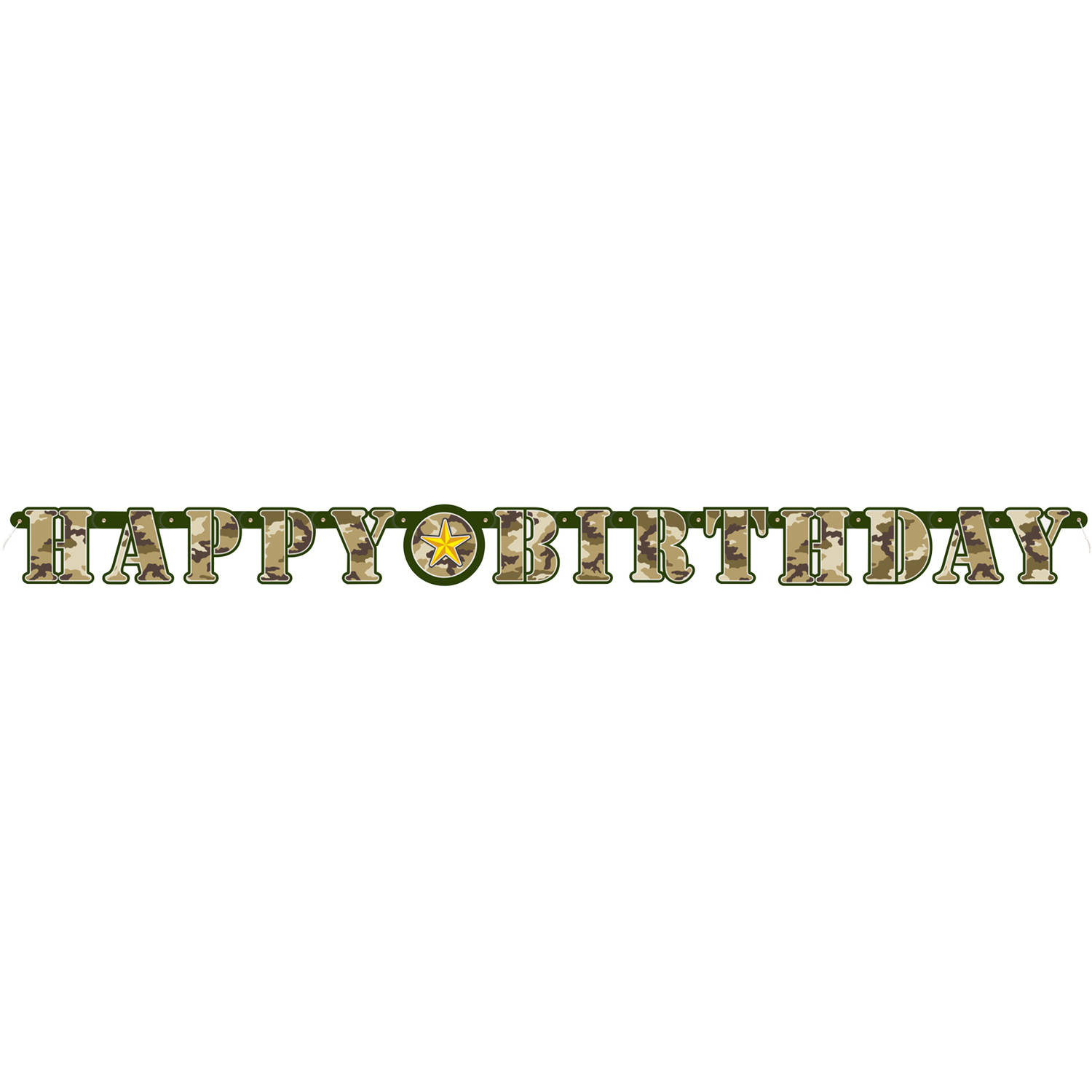 MILITARY CAMO 'HAPPY BIRTHDAY' JOINTED BANNER