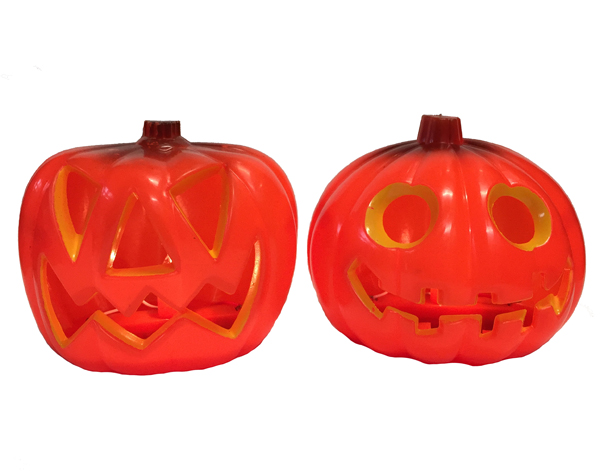 HALLOWEEN LIGHT UP PUMPKIN JACK O' LANTERN - 8CM
