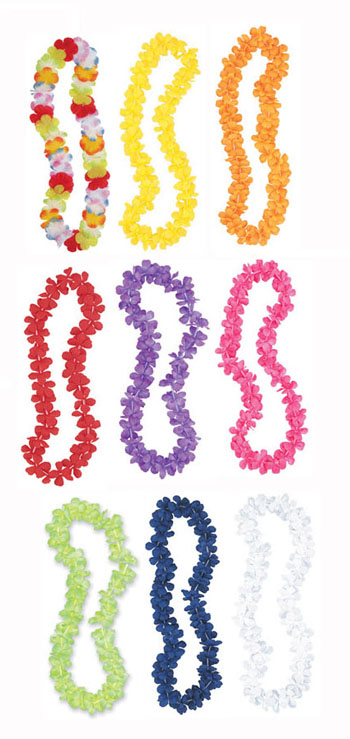 HAWAIIAN FLOWER LEIS AVAILABLE IN 9 DIFFERENT COLOURS