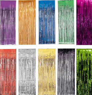 METALLIC FOIL CURTAINS - CHOOSE COLOUR HERE