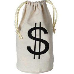 MONEY BAG SMALL WITH DRAWSTRING - FABRIC