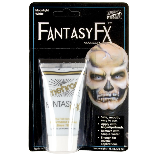 FANTASY FX FACE PAINT MAKEUP MOONLIGHT WHITE - 30ML