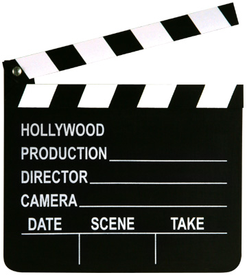 Image of Clapper Board  Medium With Chalk