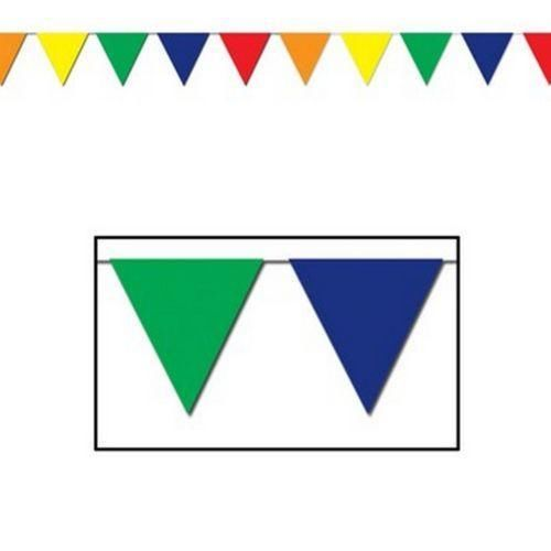 MULTI COLOURED GIANT PENNANT BANNER - 36 METRES
