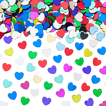 Image of Table Scatters Multi Coloured Hearts