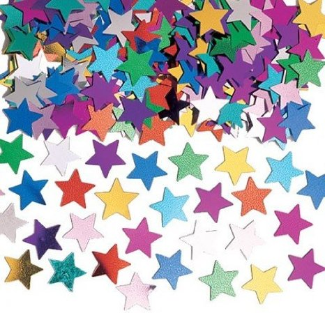 TABLE SCATTERS - MULTI COLOURED STARS