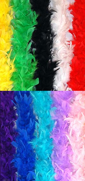 FEATHER BOA - LIGHTWEIGHT AVAILABLE IN MANY COLOURS