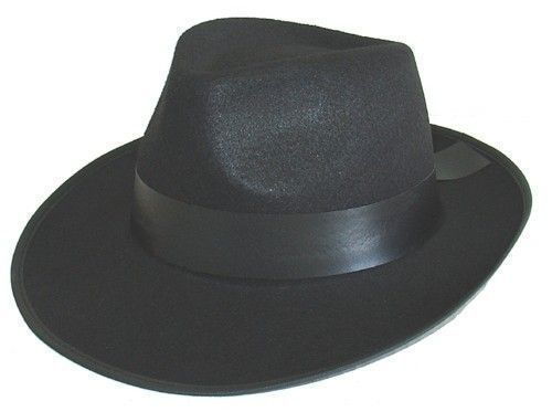 GANGSTER FELTEX BLACK HAT
