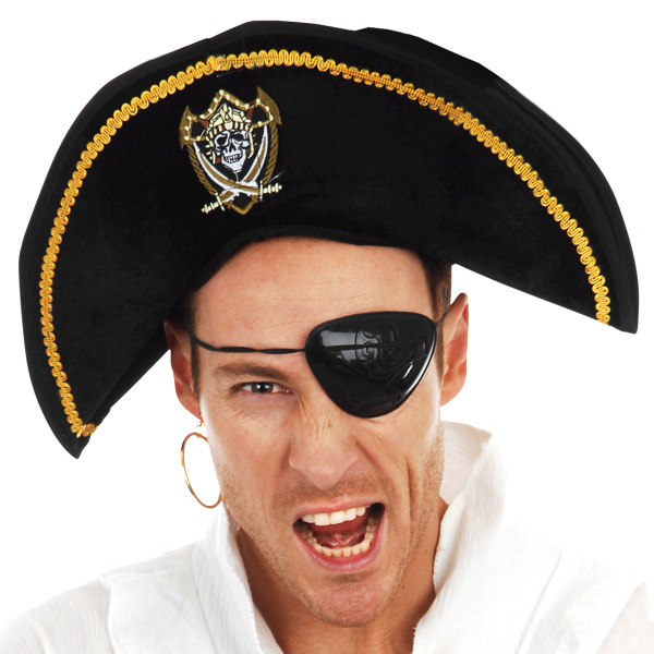 PIRATE BADGED PIRATE HAT