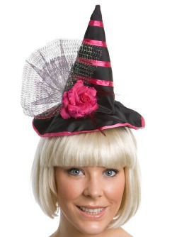 WITCHES HAT HEADBAND - PINK