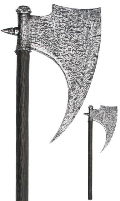 AXE MEDIEVAL EXECUTIONERS - BLACK & SILVER 90CM
