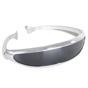ALIEN/SPACEMAN CYCLOPS SILVER GLASSES