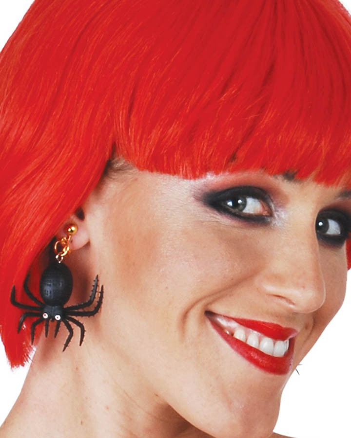 BLACK SPIDER HALLOWEEN EARRINGS