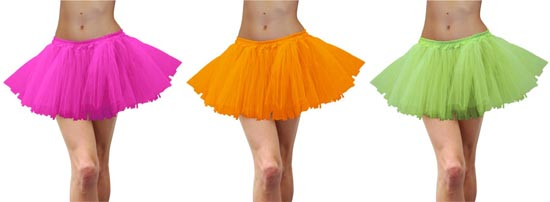 TUTUS - NEON COLOURS - DELUXE THICK & LARGE