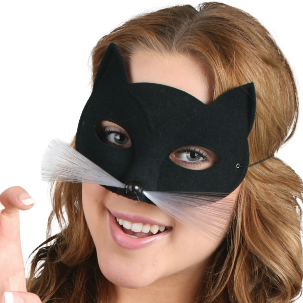 MASK - BLACK CAT WITH WHISKERS