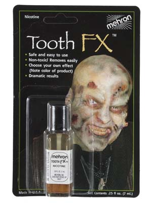 MEHRON LIQUID TOOTH FX NICOTINE PAINT ON TOOTH COLOUR - 7ML