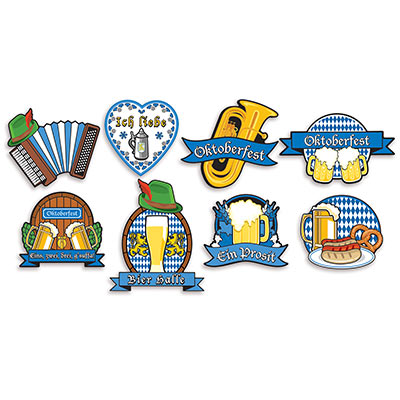 OKTOBERFEST CUT OUTS - PACK OF 8