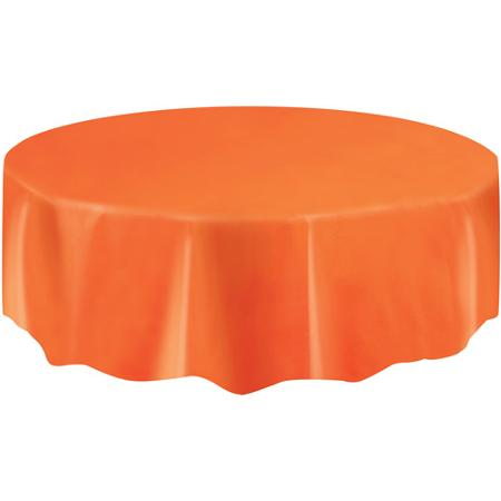 DISPOSABLE TABLECOVER - CIRCULAR ORANGE