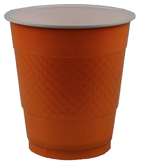 DISPOSABLE CUPS TWO TONE ORANGE - PACK OF 20