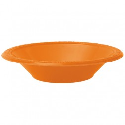DISPOSABLE DESSERT OR SNACK BOWL ORANGE - PACK OF 25
