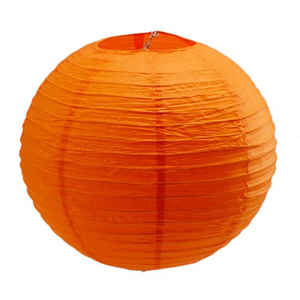 CHINESE PAPER LANTERN 35CM - ORANGE