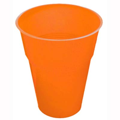 DISPOSABLE CUPS - ORANGE PACK 25
