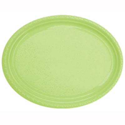 DISPOSABLE PLATES LARGE OVAL - LIME PACK OF 25