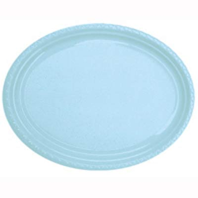 DISPOSABLE PLATES LARGE OVAL - PALE BLUE PACK OF 25