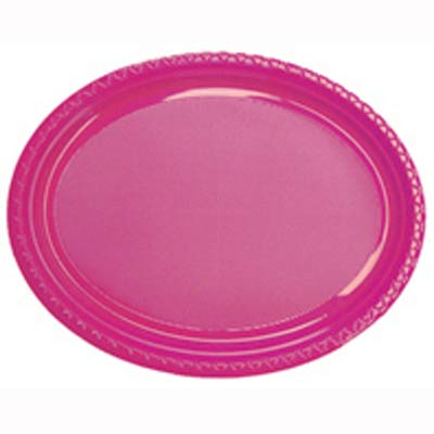 DISPOSABLE OVAL PLATES - MAGENTA PACK OF 25