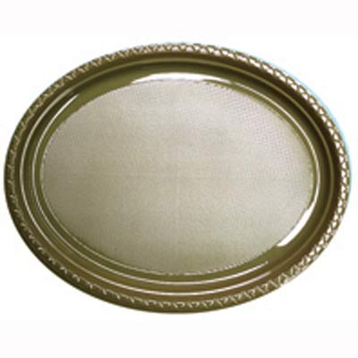 DISPOSABLE OVAL PLATES - GOLD PACK OF 25