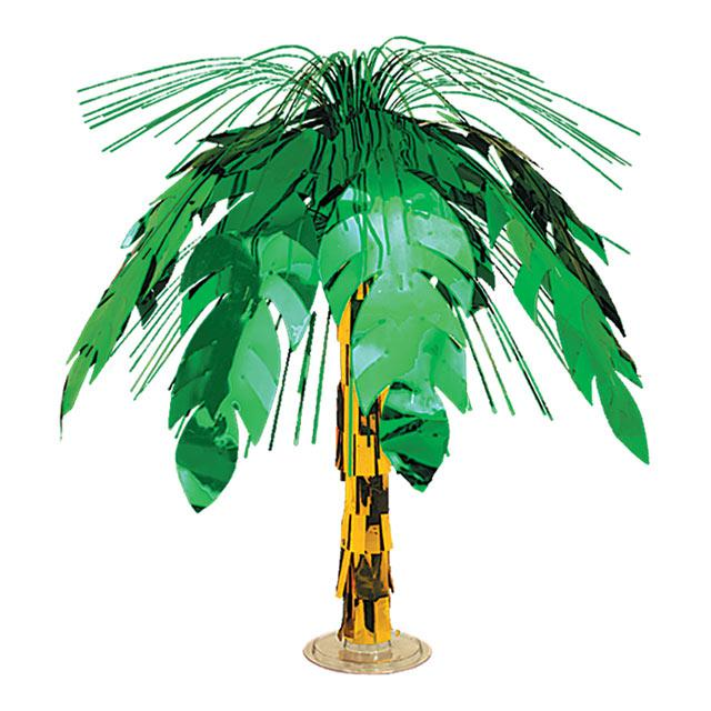 Image of Palm Tree Large Foil Centrepiece