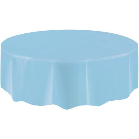 DISPOSABLE TABLECOVER - CIRCULAR PALE BLUE