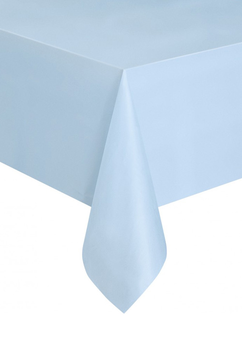 DISPOSABLE TABLECOVER - RECTANGULAR PALE BLUE