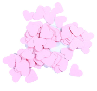 TABLE SCATTERS PALE PINK HEARTS