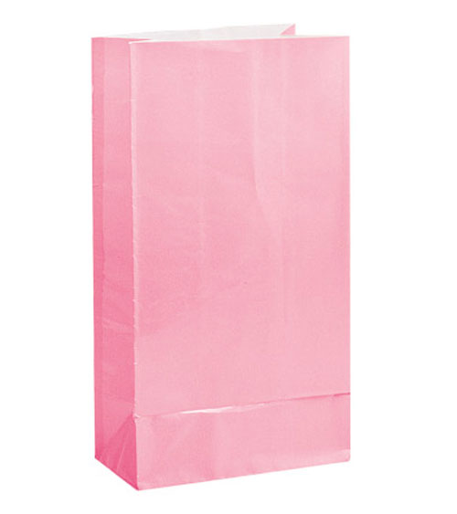 PAPER LOOT BAGS - PALE PINK - PACK OF 12