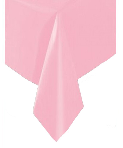 DISPOSABLE TABLECOVER - RECTANGULAR PALE PINK