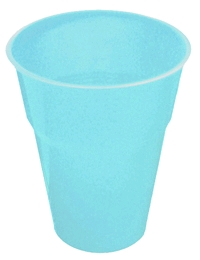 DISPOSABLE CUPS - PALE BLUE PACK 25