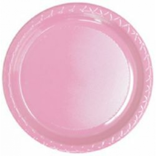 DISPOSABLE DINNER PLATE - PALE PINK PACK OF 25