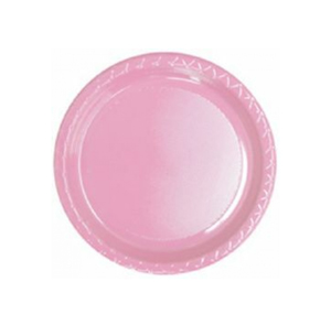 DISPOSABLE ENTREE / SNACK  PLATE - PALE PINK PACK OF 25