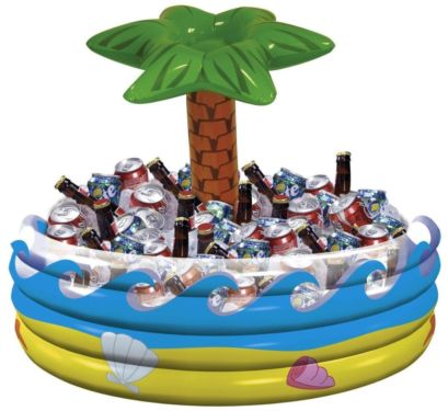 INFLATABLE TABLE TOP COOLER - PALM TREE POOL STYLE
