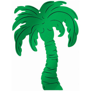 PALM TREE FOIL BOARD CUT OUT - SMALL
