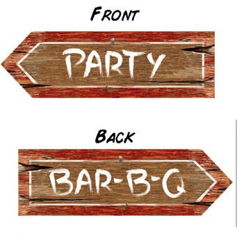 AUSTRALIAN COLD PARTY/BAR-B-Q SIGN PACK OF 1