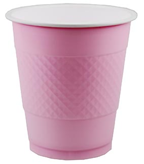 DISPOSABLE CUPS TWO TONE PASTEL PINK - PACK OF 20