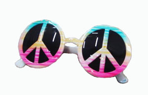 TYE DYED PEACE GLASSES