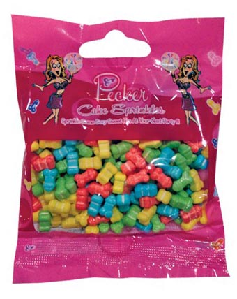 PECKER SHAPED CANDY CAKE SPRINKLES